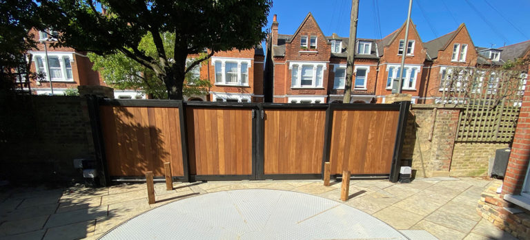 Ritherdon Road Telescopic Gate Installation