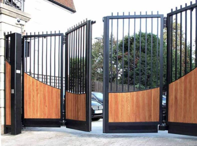electric bi folding gates