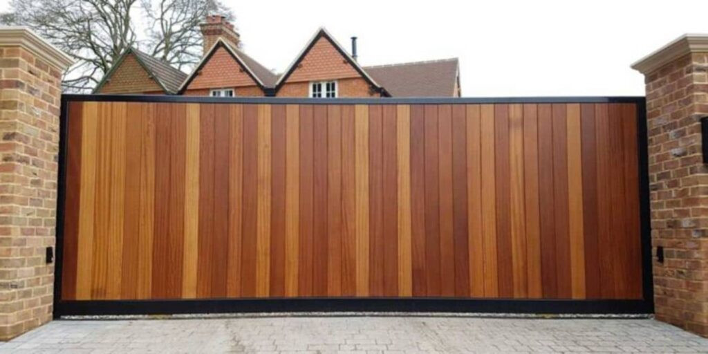 electric gates wooden