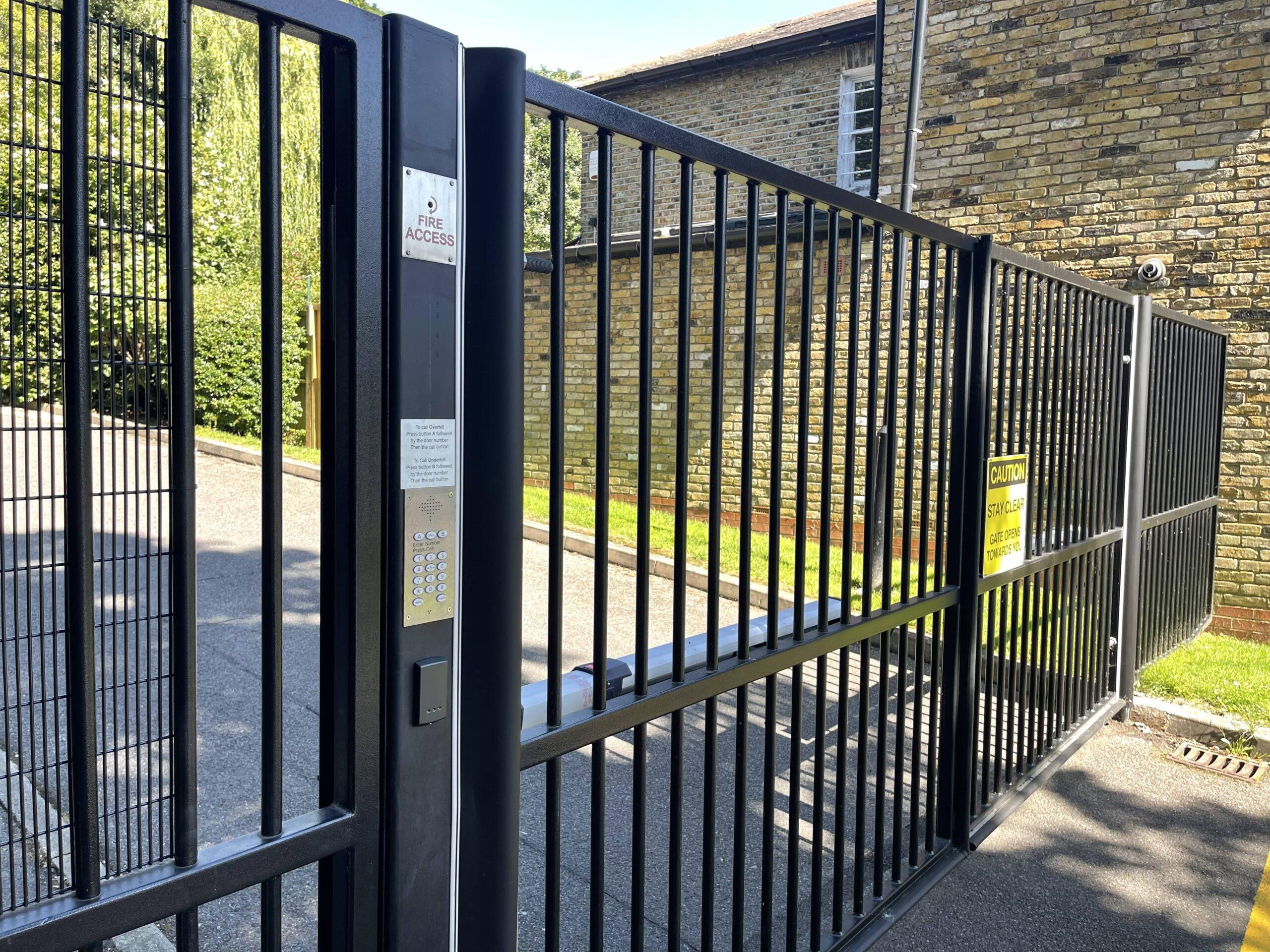 electric gates metal